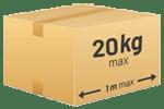 Poids des colis limité à 20 kg maximum