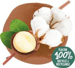 Crème de douche bio Coton Macadamia