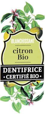 Dentifrice au citron bio Cosmo Naturel