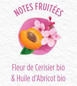 Déodorant Roll on bio Fleurs de cerisier et huile d'abricot
