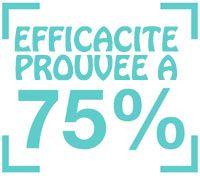 Efficacité prouvée à 75%
