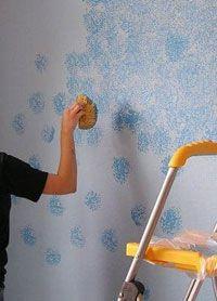 Effet peinture avec une éponge de mer