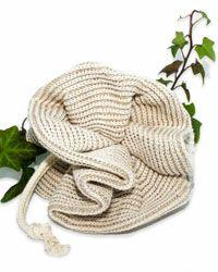 Utiliser la fleur de douche en lin et coton bio Anaé