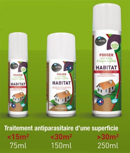 3 formats différents pour les foggers Habitat antiparasitaires Biovétol
