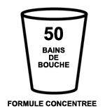Formule concentrée = 50 bains de bouche possibles