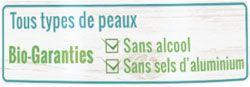 Garantis sans alcool et sans sels d'aluminium