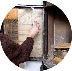 Nettoyer une vitre d'insert avec le dégraissant Ecodoo
