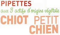Pipettes insectifuge pour chiot et petit chien Biovétol