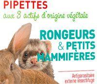 Pipettes insectifuge pour rongeurs et petits mammifères Biovétol