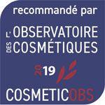 Recommandé par l'observatoire des cosmétiques 2019