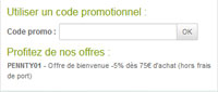 Utiliser un code promotionnel